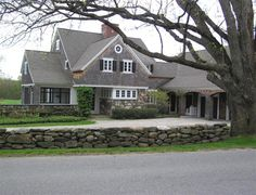 love the stacked stone fence!