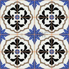 Vetores semelhantes a 147159853 Delft dutch tiles pattern vector with blue and white flowers ornaments Page Background, Textured Background, Patchwork Patterns, Tile Patterns, Dark Blue, Blue And White, Portuguese Tiles, Banner Printing, Delft