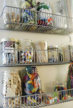 Sew Liberated - Taming the Art Supply Dragon - the art closet by sew liberated, via Flickr