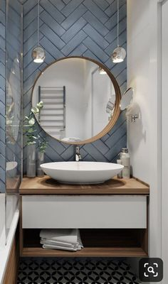 all about interior design that comes out in print and online magazines New Bathroom Ideas, Bathroom Inspiration, Small Bathroom, Ideas Baños, Decor Ideas, Bathroom Design Luxury, Apartment Design, House Design, Countryside Fashion