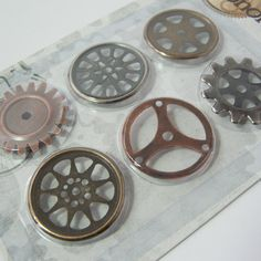 DoCraft's Chronology Accessories  Cogs set of by PressGangSupplies