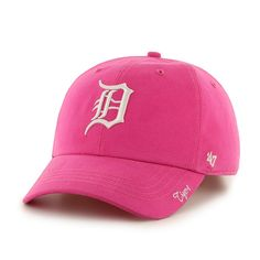 4e43fd4b7f7 Detroit Tigers Women s 47 Brand Pink Miata Clean Up Adjustable Hat Mlb  Detroit Tigers