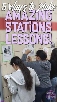 Five Ways to Make Awesome Stations Lesson Plans! Advice on how to make your stations lessons engaging and Five Ways to Make Awesome Stations Lesson Plans! Advice on how to make your stations lessons engaging and meaningful in the classroom! Social Studies Classroom, Middle School Classroom, History Classroom, English Classroom, Teaching Social Studies, Teaching History, Classroom Ideas Secondary, 6th Grade Social Studies, Social Studies Activities