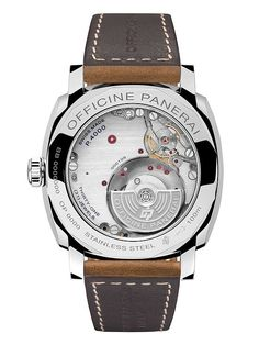 The @paneraiofficial Radiomir 1940 3 Days Automatic Acciaio (Ref. PAM00655), contains Panerai's in-house Caliber P.4000, which is visible through a clear sapphire caseback. More @ http://www.watchtime.com/wristwatch-industry-news/watches/sihh-2016-panerai-radiomir-1940-3-days-automatic-acciaio-42mm/ #panerai #watchtime #menswatches #SIHH2016
