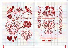 Gallery.ru / Фото #7 - Annick_ Abrial_1000_motifs_2010 - I am a sucker for weird Valentine's Day patterns.