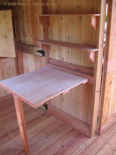 Custom Built Treehouse Desk -  Malibu, California