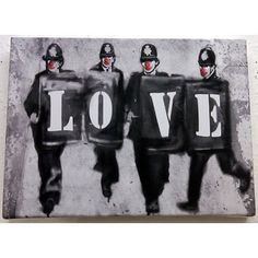 Banksy #citytoks #streetart Arte Banksy, Banksy Graffiti, Banksy Canvas, Bansky, Street Art Love, Best Street Art, Cheap Canvas Art, Street Art Banksy, Street Artists
