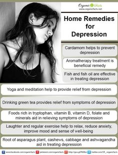 Home remedies for depression include yoga, regular exercise, laughter and, intake of food rich in B vitamins, minerals and tryptophan. The home remedies will help you to deal with depression