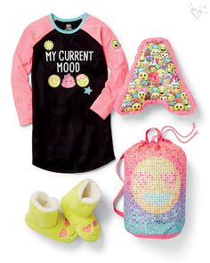 Check out the Sleepover Shop! Beds in a Bag, initial pillows, cozy nightgowns and totally adorable slipper boots plus so much more!