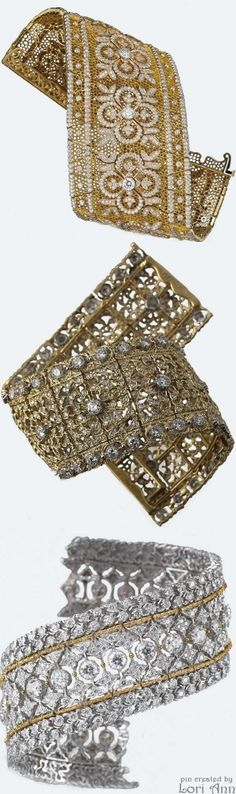 Buccellati High Jewelry Collection Bracelets #finejewelry #finebracelets