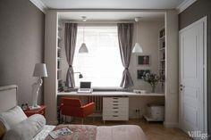 Дизайн комнаты когда дверь напротив окна