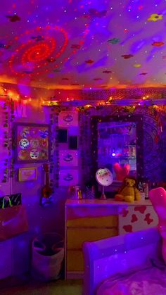 🧿🌈🧃🧚��♀�🛹🤎🌸�(@artsyhoetingz_) on TikTok: another bedroom tour lol ok i'm done #bedroomcheck #aesthetic #aestheticasf #lights #vines #amazon #blowthisup #makemefamous #getmetiktokfamous #like Neon Bedroom, Indie Bedroom, Indie Room Decor, Cute Bedroom Decor, Room Ideas Bedroom, Girls Bedroom, Bedrooms, Bedroom Inspo, Hippie Bedroom Decor