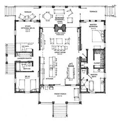 Dog Trot House Plans Southern Living Modern Dog Trot House Plans The Camellia Hot Humid Free Southern Living Dogtrot Day Design Home Design Ideas Website Southern House Plans, Cottage House Plans, Country House Plans, Dream House Plans, Small House Plans, House Floor Plans, Southern Cottage, Br House, Story House