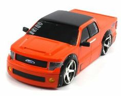 """Licensed Ford F-150 Electric RC Truck 1:18 Xtreme Street Tuning RTR (Colors May Vary) Lowered by Velocity Toys. $29.95. Length: 9""""  Width: 4.5""""  Height: 3. Full Function! (Go Forward and Backward, Turn Left and RIght)  1:18 Scale  Adjustable Front Wheel Alignment  Working LED Head and Tail Lights!. Requires 4 AA Batteries to run (not included)  Remote Control requires 2 AA Batteries to run (not included). High Gloss Paint Job  Huge Chrome Rims Wrapped in Rubber Tires  Lo..."""