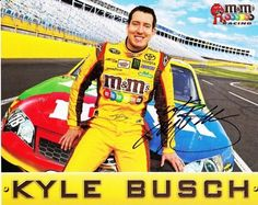 AUTOGRAPHED 2012 Kyle Busch #18 M's Racing Team 8X10 NASCAR Hero Card by Trackside Autographs. $49.95. For your viewing pleasure: *AUTOGRAPHED* 2012 Kyle Busch #18 M's Racing Team 8X10 Hero Card. This nice NASCAR driver card has been Hand-Signed by Kyle through a well-respected member of Global Authentication. You will receive a Certificate of Authenticity (COA) with your purchase, and we also offer a 100% life-time guarantee regarding authenticity! This is an actual...