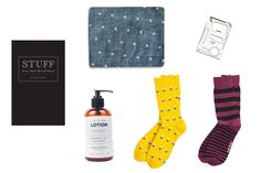 Father's Day Gift Set - for the man that has it all, funky socks, man lotion, mini survival tool and more