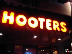Hooters!!!! One of my many favorite restaurants to eat at.