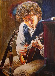 Bob Dylan Portrait by IanReesArt, via Flickr