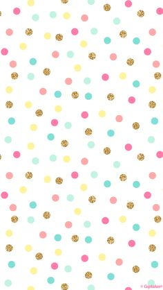 Mint pink gold confetti spots dots iphone wallpaper phone background lock s