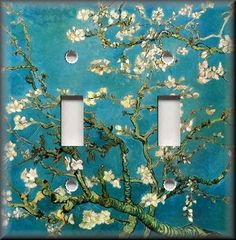Light Switch Plate Cover - Van Gogh - Almond Blossoms - Wall Decor