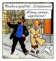 comic panel from 'Les Aventures de Tintin: Les 7 Boules de cristal' by Hergé (1943-1944)