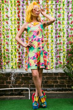 Fruity Patootie Skater Dress by Dazzle & Jolt. #Tropicanaval