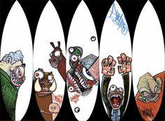 surf graffiti art - Google Search