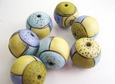 Really love the colors in these beads..love the beads, too, by Rebecca Watkins