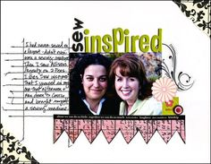 [EJ Says...] Another Sande Krieger layout to show that 2007/2008-ish blend of lots of white space with tight artsy embellishments, layout, and journaling.