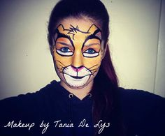Simba lion king makeup