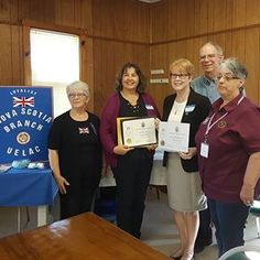 Congratulations to Linda Jobe and Carolyn Simpson who were presented with Loyalist Descent UE Certificates at today's NS Branch meeting Nova Scotia, Certificate, Empire, Congratulations, Presents, The Unit, Instagram, Gifts, Favors