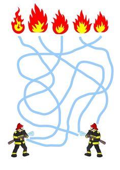 Kindergarten Math Activities, Educational Activities For Kids, Preschool Classroom, Infant Activities, Fire Safety For Kids, Fire Safety Week, Firefighter Crafts, Fire Crafts, Community Helpers Preschool
