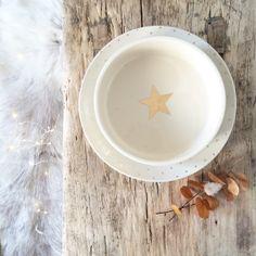 Petit Plat rond étoiles dorées - Le Repère des Belettes