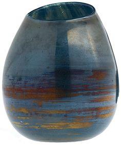 Art Glass Bagley/sowerby/davidson Generous Vintage Square Textured Davidsons Luna Vase