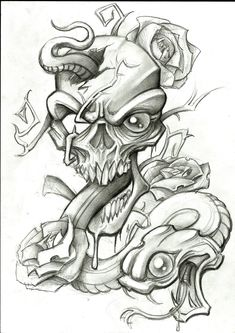 snake_and_skull_by_stephcand-d42cesb.jpg (2479×3507)
