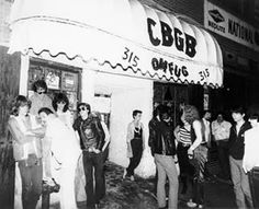 Out in front of CBGB