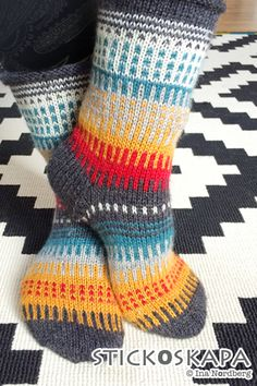 Crochet Socks, Knitting Socks, Knit Crochet, Easy Knitting Patterns, Knit Wrap, Wool Socks, Drops Design, Mittens, Ravelry
