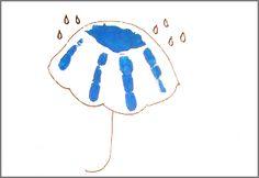 april handprint umbrella