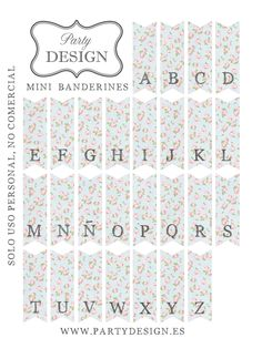 FREE printable alphabet bunting letters