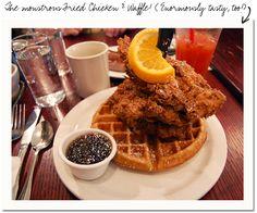 Chicken & Waffles at Portland's Screen Door Restaurant.