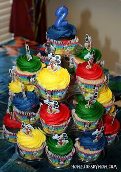 Baby Bug's 3rd Birthday: Mickey Mouse Birthday Party Decorations and Ideas - Home Jobs by MOM