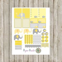 These Elephant On Parade Planner Stickers will bring joy to your weekly layout! With enough stickers to do an entire weekly layout (with some