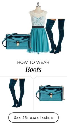 """""""High Suede Boots"""" by sillycatgrl on Polyvore featuring Bulgari"""