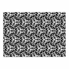 KESS InHouse Laura Nicholson 'Y Knot' Black White Dog Place Mat, 13' x 18' ** Special dog product just for you. See it now! : Dog food container