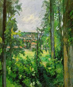 View of the Outskirts, Paul Cezanne