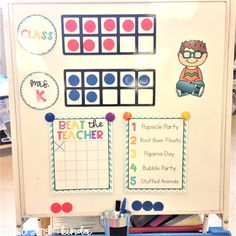 """My class is excelling with this """"Beat the Teacher"""" classroom management incentive. Everyday they try to beat me by earning points for… Classroom Expectations, Classroom Behavior Management, Class Management, Behaviour Management, Behavior Plans, Classroom Behaviour, Kindergarten Behavior, Behavior Rewards, Preschool Class"""