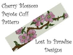 Lost in Paradise Designs Cherry Blossom 2 Drop Even Count Peyote Stitch Digital Download Pattern