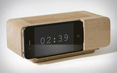 """""""Turn your iPhone into a full-on alarm clock using nothing but a hunk of wood with the Areaware Alarm Dock ($35)."""" (Uncrate)"""