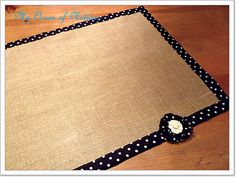 Burlap table runner - just bind some burlap - how easy is that !?!?!?