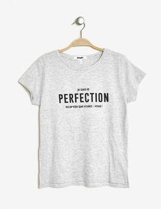 e6d38f74a4eb4 Tee-shirt imprimé gris chiné femme • Jennyfer Jennyfer Magasin